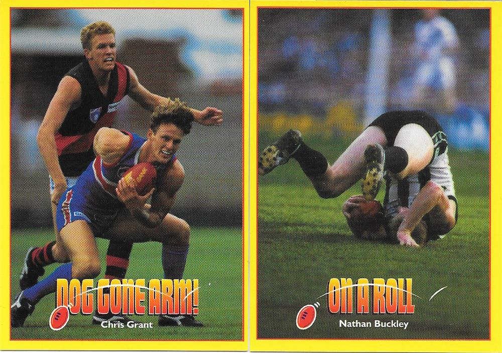 1997 Select AFL Maggi Footy Bloopers Set of 20 cards