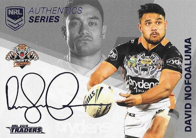 David Nofoaluma, NRL Authentics Series Navy, 2018 ESP Traders NRL