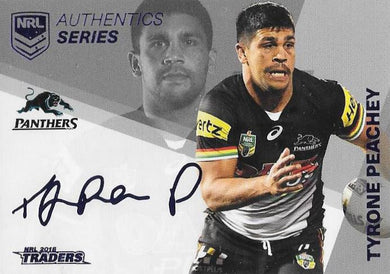 Tyrone Peachey, NRL Authentics Series Navy, 2018 ESP Traders NRL