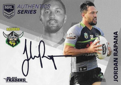 Jordan Rapana, NRL Authentics Series Navy, 2018 ESP Traders NRL