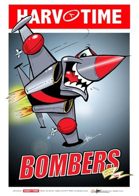 Essendon Bombers Mascot, Harv Time Poster