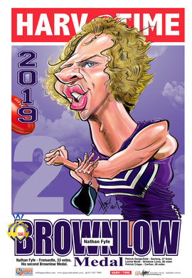Nat Fyfe, 2019 Brownlow Harv Time Poster
