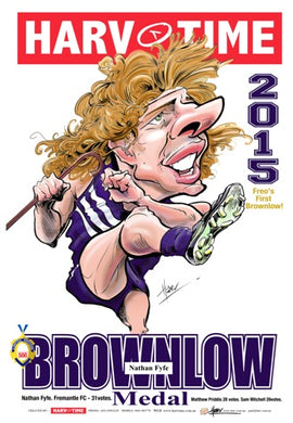 Nat Fyfe, 2015 Brownlow Harv Time Poster