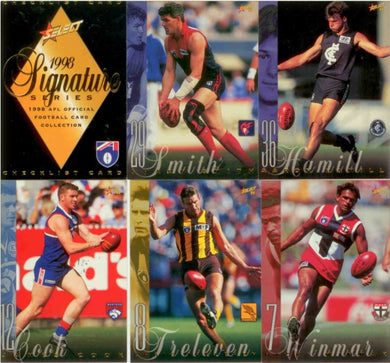 1998 Select AFL Signature Series Trading Card Base Set of 200 cards