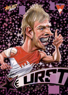 Kieren Jack, Purple Starburst Caricatures, 2017 Select AFL Stars