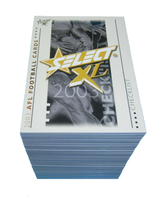 2003 Select XL AFL Base Set of 217 Trading cards