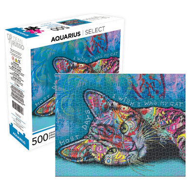 Dean Russo Cat Puzzle 500 Piece Jigsaw Puzzle by Aquarius