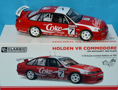 Classic Carlectables Coca-Cola Holden VR Commodore 1:18 Diecast Model Car