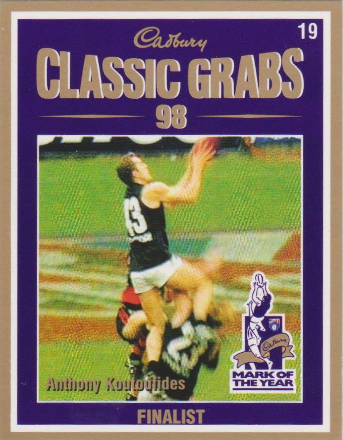 Anthony Koutoufides, Cadbury Classic Grabs, 1999 Select AFL