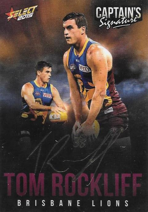 Tom Rockliff, Foil Captains Signature, 2015 Select AFL Digital Series