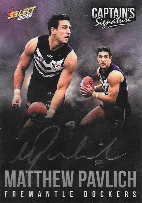 Matthew Pavlich, Foil Captains Signature, 2015 Select AFL Digital Series