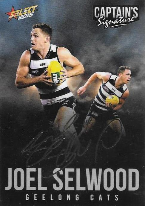 Joel Selwood, Foil Captains Signature, 2015 Select AFL Digital Series