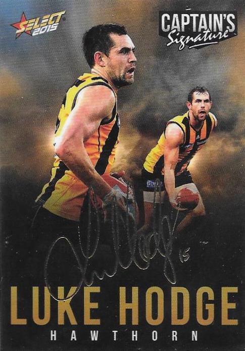 Luke Hodge, Foil Captains Signature, 2015 Select AFL Digital Series