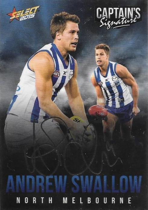 Andrew Swallow, Foil Captains Signature, 2015 Select AFL Digital Series