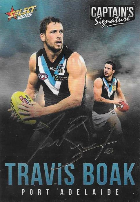 Travis Boak, Foil Captains Signature, 2015 Select AFL Digital Series