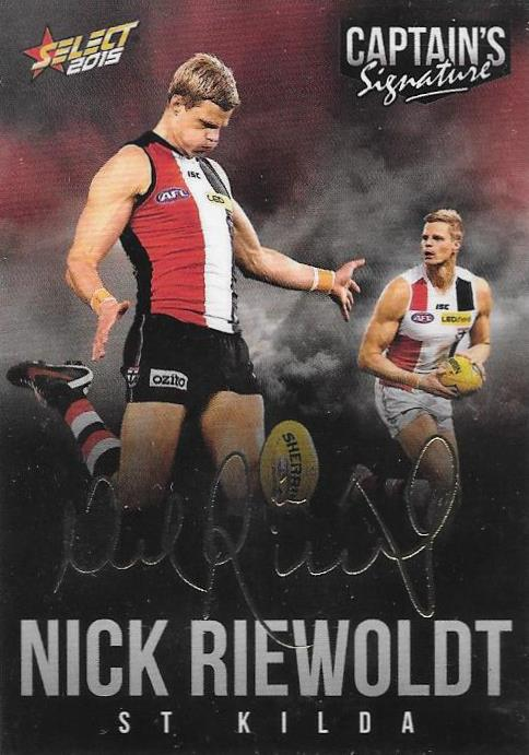 Nick Riewoldt, Foil Captains Signature, 2015 Select AFL Digital Series