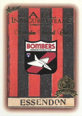 Essendon Inaugural Team Hall of Fame card, 1996 Select AFL