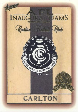 Carlton Inaugural Team Hall of Fame card, 1996 Select AFL