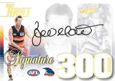 Ben Hart, 300 Game Signature Case Card, 2019 Select AFL Footy Stars