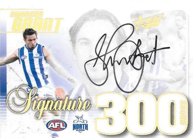 Shannon Grant, 300 Game Signature Case Card, 2019 Select AFL Footy Stars