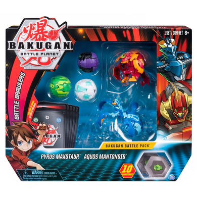 Bakugan Battle Pack - Pyrus Maxotaur & Aquos Mantoniod