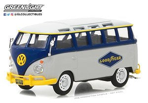 Volkswagen Type 2 (T1) Samba Bus, Goodyear Running on Empty Series, 1:43 Diecast Vehicle