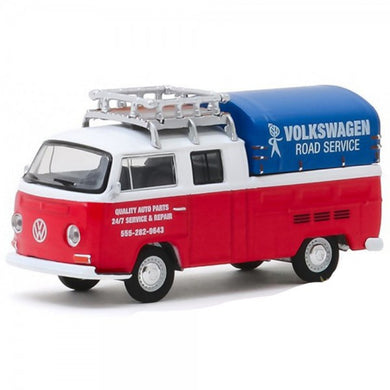 1976 Volkswagon Type 2 Double Cab Pick-up, Club V-DUB, 1:64 Diecast Vehicle