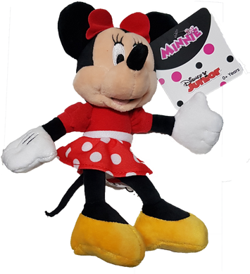 Disney Junior Minnie Mouse with Red Dotty Dress Small Plush Toy