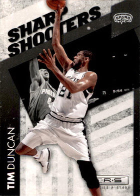 Tim Duncan, Sharp Shooters, 2010-11 Panini Rookies & Stars Basketball NBA