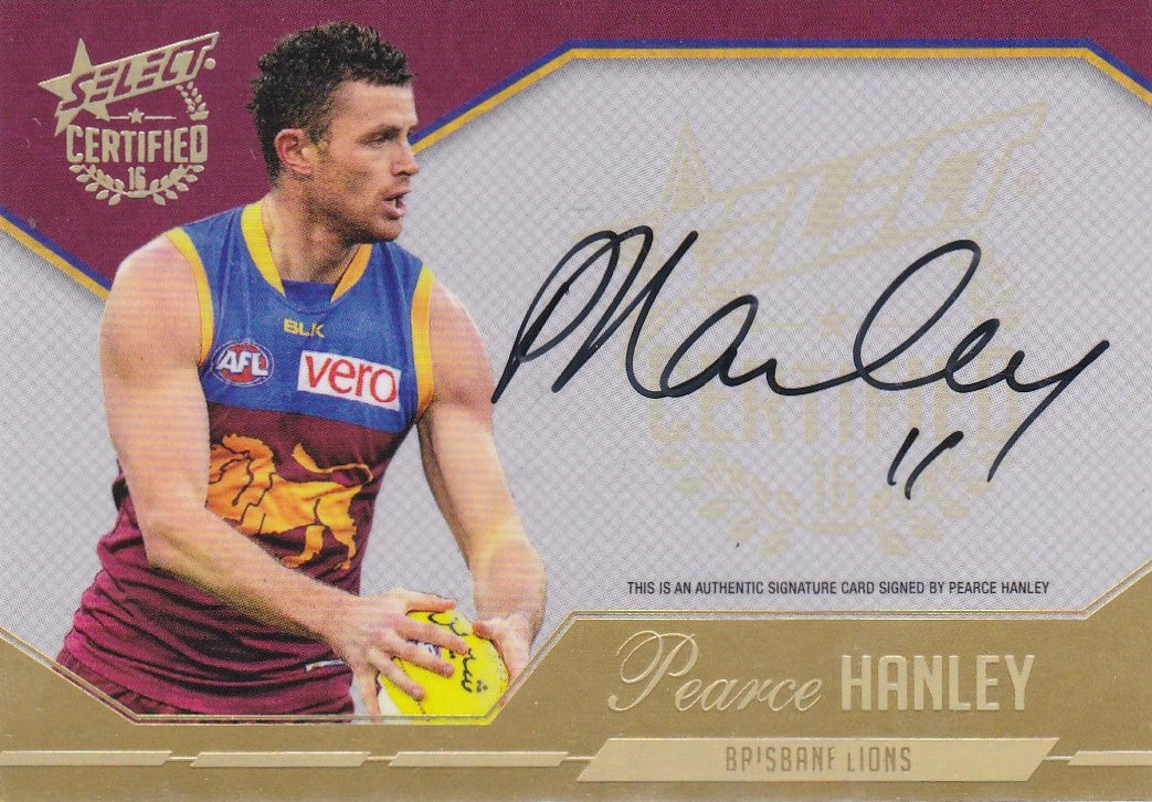 Pearce Hanley, Certified Signature, 2016 Select AFL Certified