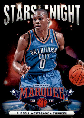Russell Westbrook, Stars of the Night, 2012-13 Panini Marquee Basketball NBA