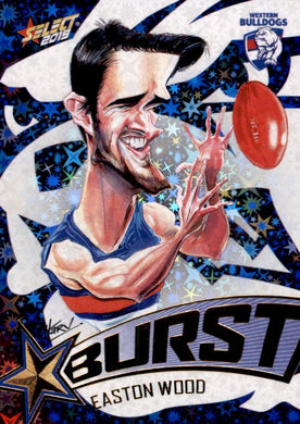 Easton Wood, Team Logo Starburst Caricatures, 2019 Select AFL Footy Stars