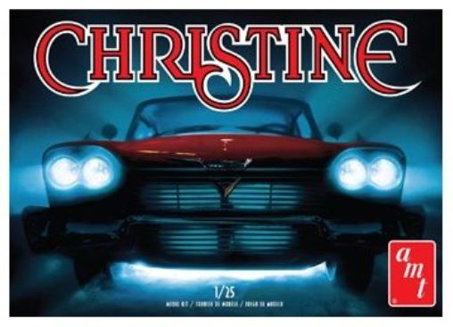 'CHRISTINE' Movie, 1958 Plymouth Belvedere Red, Plastic Model Kit, 1:25 Scale