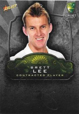 Brett Lee, Contracted Player Gold Foil Signature, 2009-10 Select Cricket