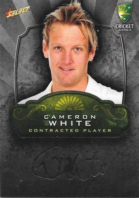 Cameron White, Contracted Player Gold Foil Signature, 2009-10 Select Cricket