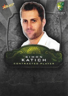 Simon Katich, Contracted Player Gold Foil Signature, 2009-10 Select Cricket