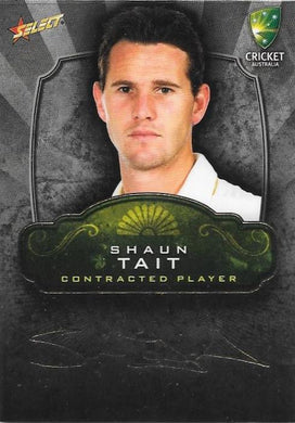 Shaun Tait, Contracted Player Gold Foil Signature, 2009-10 Select Cricket