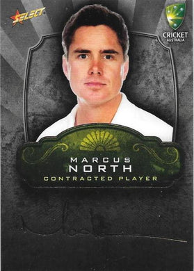 Marcus North, Contracted Player Gold Foil Signature, 2009-10 Select Cricket