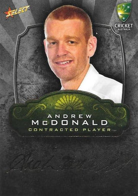 Andrew McDonald, Contracted Player Gold Foil Signature, 2009-10 Select Cricket