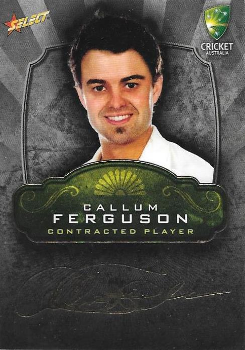 Callum Ferguson, Contracted Player Gold Foil Signature, 2009-10 Select Cricket