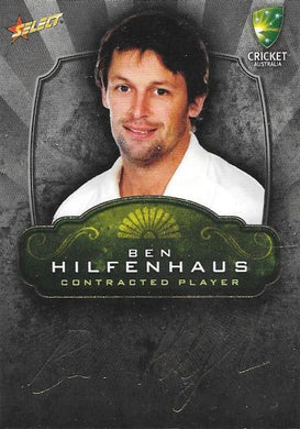 Ben Hilfenhaus, Contracted Player Gold Foil Signature, 2009-10 Select Cricket