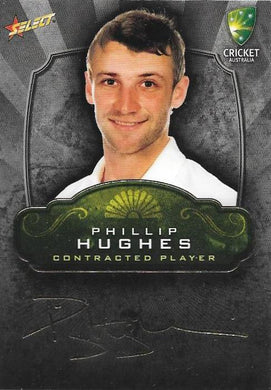Phillip Hughes, Contracted Player Gold Foil Signature, 2009-10 Select Cricket