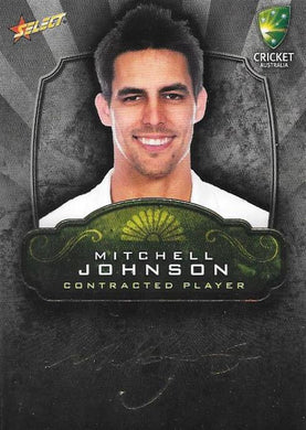 Mitchell Johnson, Contracted Player Gold Foil Signature, 2009-10 Select Cricket