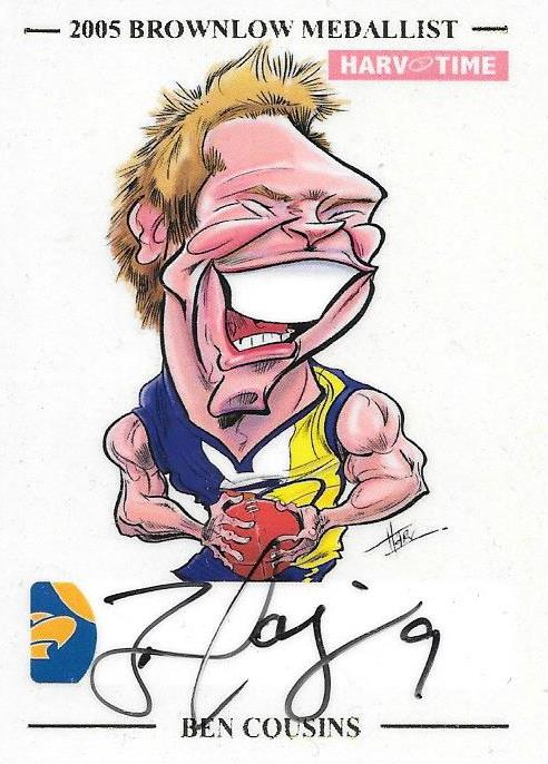 Ben Cousins, HarvTime Signature Series card Limited Edition #'d to 50
