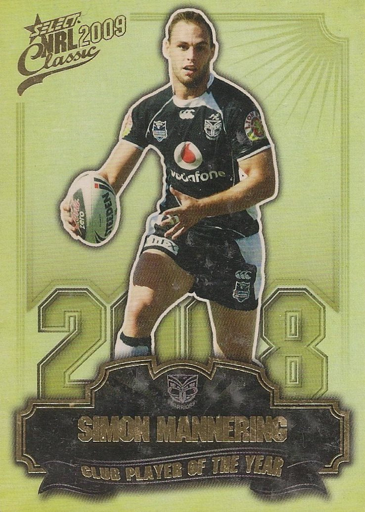 Simon Mannering, Club Player of the Year, 2009 Select NRL Classic