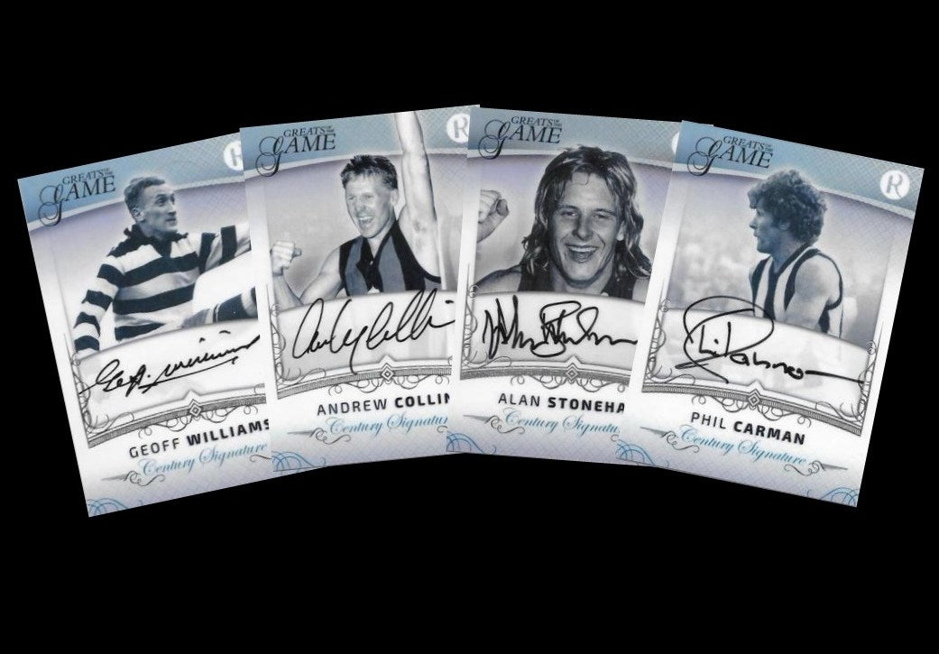 Complete Century Signature Set, 2017 Regal Football Greats of the Game