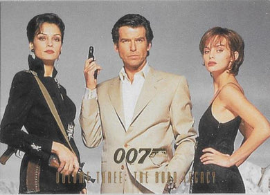 1996 Inkworks, James Bond 007 Promotional Set of 3 cards.
