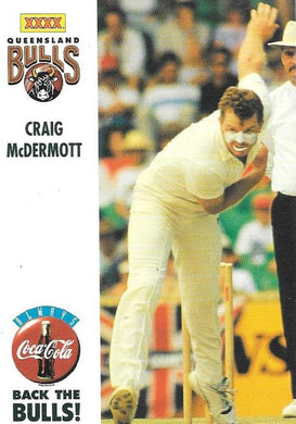 Craig McDermott, Back the Bulls, 1994-95 Coca-Cola Cricket