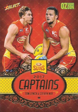 Tom Lynch & Steven May, Captains, Oz Comic Con, 2017 Select AFL