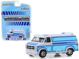 1983 GMC Vandura Custom White with Custom Graphics, 1:64 Diecast Vehicle